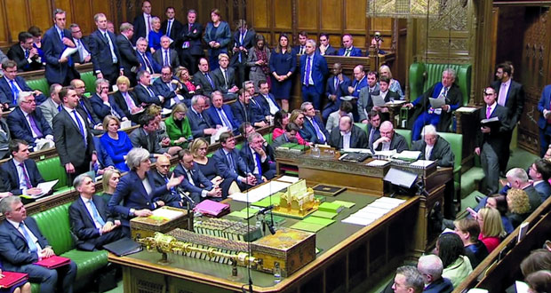 بريطانيا:البرلمان يرفض مجددا اتفاق ماي لـ(الخروج) وأيرلندا محبطة