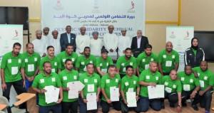 ختام أعمال دورة مدربي التضامن لمدربي لكرة اليد بمشاركة 26 دارسا