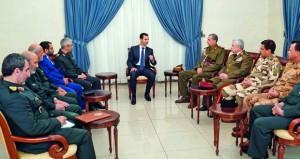 سوريا: الأسد يقيم مع قادة الجيشين العراقي والإيراني الإنجازات في مكافحة الإرهاب