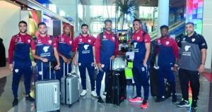 بعثة منتخبنا الوطني الأول لكرة القدم تصل السلطنة قادمة من ماليزيا بعد الحصول على لقب بطولة كأس إيرمارين الدولية الودية