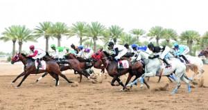9 أشواط مثيرة في السباق الثامن عشر لنادي سباق الخيل السلطاني بمضمار الرحبة ببركاء