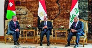 الملفات الإقليمية والأمنية والتعاون المشترك على طاولة المباحثات المصرية العراقية الأردنية