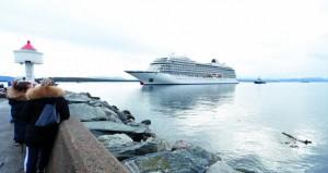 نجاة سفينة سياحية نروجية من كارثة بعد عملية إنقاذ مثيرة