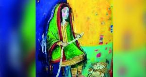 """""""وجوه من الذاكرة"""" معرض فني جديد للفنانة التشكيلية إنعام أحمد"""
