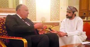 وزير الخارجية المصري يثمّن دور جلالة السلطان في حلحلة القضايا الإقليمية والدولية