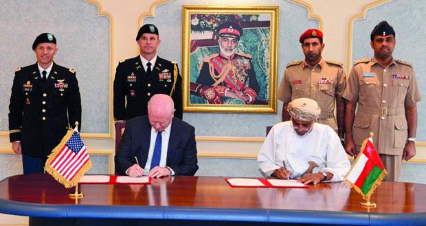 توقيع الاتفاقية الإطارية بين السلطنة والولايات المتحدة الأميركية