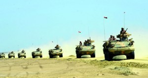 أسلحة قوات السلطان المسلحة تشارك في البيان العملي الختامي لتمرين درع الجزيرة/ ١٠ المشترك بالمملكة العربية السعودية
