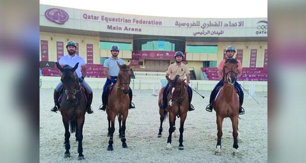 فرسان السلطنة لقفز الحواجز يشاركون ببطولة جولات قطر المحلية