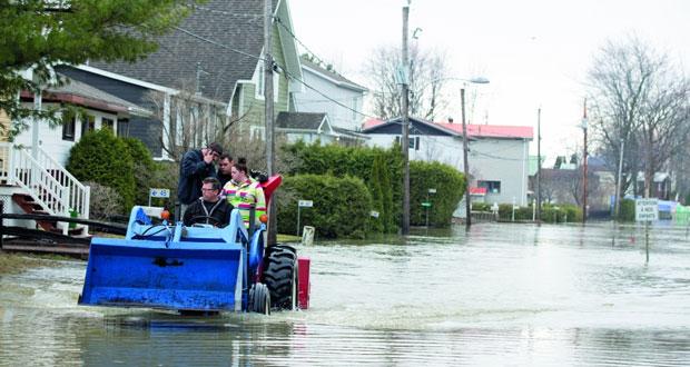 إجلاء 1500 شخص جراء فيضانات شرق كندا