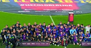 في الدوري الاسباني: ميسي يقود برشلونة لإحراز اللقب الـ26 في تاريخه
