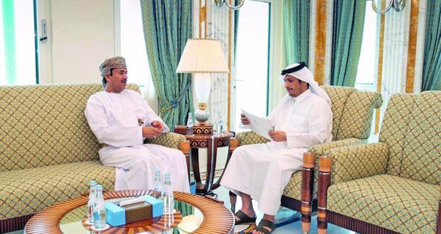 رسالة خطية من الوزير المسؤول عن الشؤون الخارجية لوزير الخارجية القطري