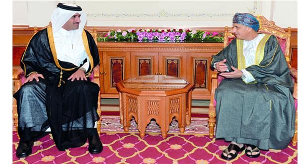 فهد بن محمود يستقبل رئيس هيئة الرقابة الإدارية والشفافية بقطر