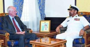 قائد البحرية السلطانية العمانية يستقبل رئيس اللجنة التشريعية بحكومة غرب استراليا