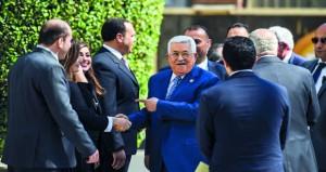 عباس: إسرائيل لم تطبق أي قرار دولي بسبب دعم ترامب