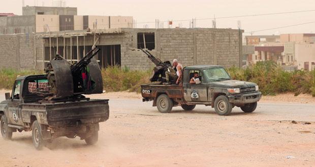 ليبيا:قوات طرابلس تدفع خصومها للخلف