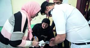 المصريون يصوتون في الاستفتاء على تعديل الدستور