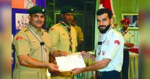 مديرية الكشافة تحتفل بتسليم قلادة الشارة الخشبية ومساعدي قادة التدريب الدولية