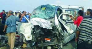 مصر: وفاة 8 وإصابة 7 في حادث تصادم ميكروباص وسيارة نقل بمحافظة الجيزة
