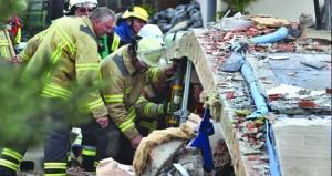 انتشال جثة من تحت أنقاض منزل انهار جراء انفجار غريب في ألمانيا