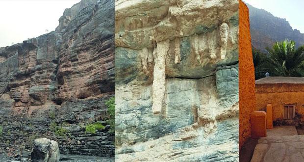 التكوينات الصخرية والتنوع الاحيائي محطة جذب للهواة والمغامرين في وادي النخر بالحمراء