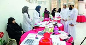 معرض تثقيفي حول افضل الجوانب الصحية والغذائية في رمضان