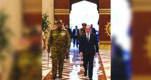 السيسي والبرهان يتفقان على أولوية دعم إرادة الشعب السودانى