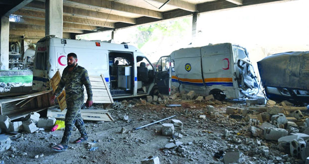 الدفاعات السورية تتصدى لأهداف معادية وتسقط طائرة مسيرة إسرائيلية