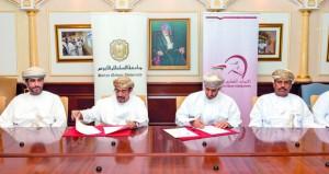 جامعة السلطان قابوس توقع برنامج تعاون مع الاتحاد العماني للفروسية