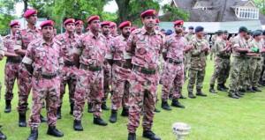 فريق قوات السلطان المسلحة للرماية الأول في مسابقة الجيش البريطاني