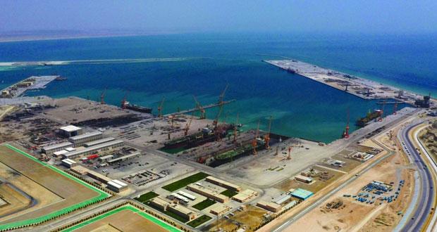 الدقم .. بوابة عمان إلى العالم / الانتهاء من أعمال الحزمة الثانية لميناء الدقم بنهاية العام الحالي