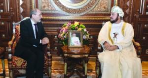 أسعد بن طارق يستقبل وزير الخارجية وشؤون المغتربين الأردني