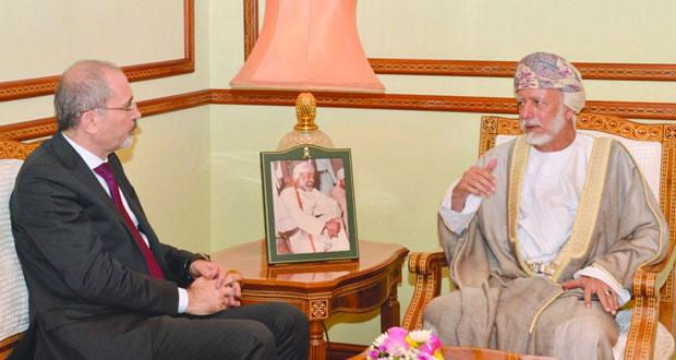 الوزير المسؤول عن الشؤون الخارجية يستقبل وزير شؤون المغتربين الأردني