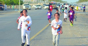 دائرة الشؤون الرياضية بجنوب الباطنة تنظم سباق السوادي الأول للأطفال