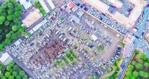 صورة من السماء لهبطة عيد الفطر بالرستاق