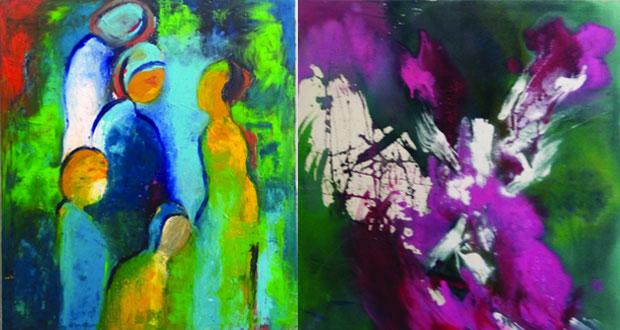 التشكيلية مريم كازويت تعانق التجريدية مع الواقعية عبر 24 لوحة في معرضها الشخصي