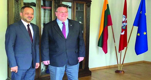 امين عام وزارة الخارجية يلتقى وزير خارجية ليتوانيا