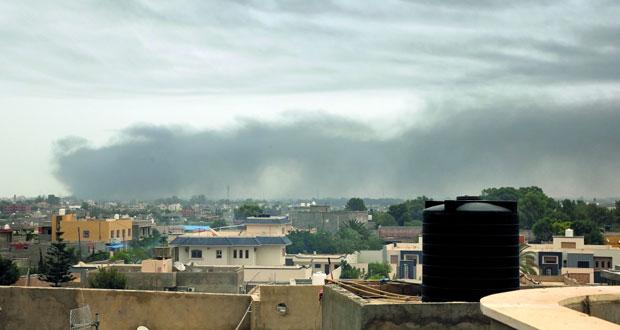 ليبيا : اشتباكات بين قوات حفتر و(الوفاق) في محيط مطار طرابلس