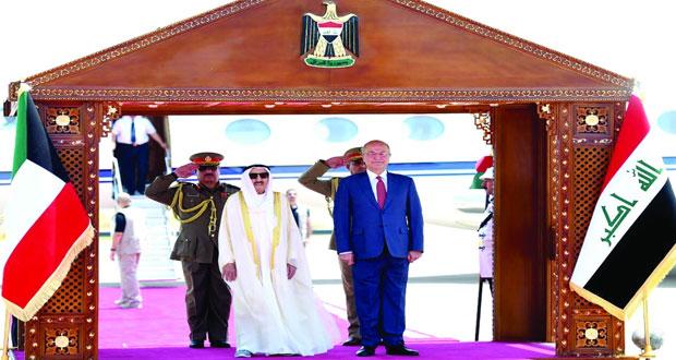 أمير الكويت يبحث في العراق العلاقات الثنائية والقضايا الإقليمية