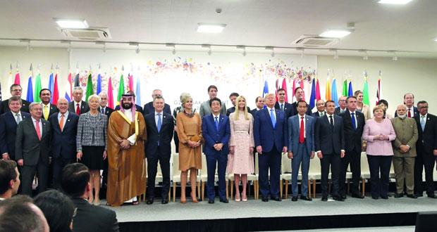 قمة (العشرين) تدعو لمناخ تجاري حر وتحذر من تباطؤ عالمي
