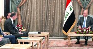 رئيس العراق يؤكد على ضرورة تعزيز السلم والأمن في المنطقة
