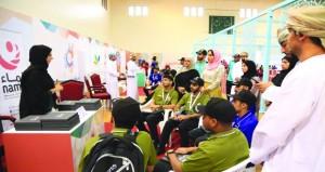 افتتاح قرية التنمية ضمن معسكر شباب الأندية بمحافظة مسقط بمجمع بوشر
