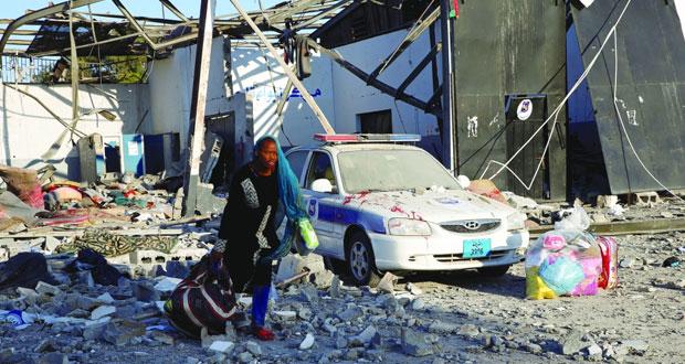 ليبيا: إخلاء تدريجي لمركز للمهاجرين في طرابلس تعرض للقصف