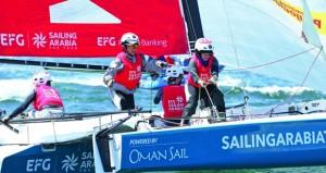 """""""النهضة للخدمات"""" يحصد المركز الأول في الجولة الرابعة للطواف الفرنسي في أحد أقوى بطولات الإبحار الشراعي العالمية"""