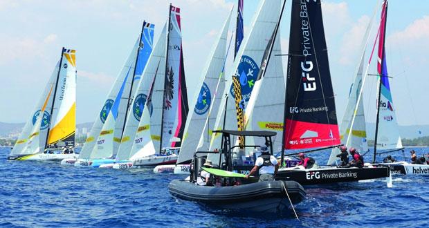 قوارب عمان للإبحار تطمح إلى تحقيق نتائج متقدمة مع انطلاق الجولة السابعة بمدينة نيس