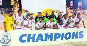 منتخب القدم الشاطئية يخطف لقب بطولة كأس نيوم الدولية بالسعودية في ثاني إنجازاته على التوالي