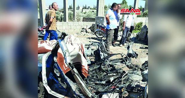 سوريا : قتلى مدنيون بينهم طفلتان بقذائف إرهابية في حماة