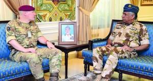 قائد سلاح الجو السلطاني العماني يستقبل كبير مستشاري وزارة الدفاع البريطانية لشؤون الشرق الأوسط