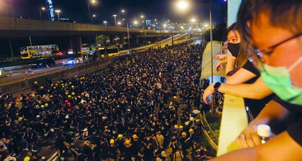 موجة جديدة من الاحتجاجات في هونج كونج
