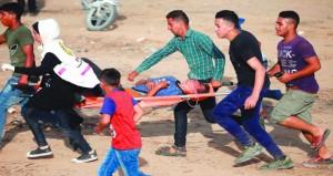 فلسطين تدين وحشية الاحتلال ضد العزل المشاركين في (العودة)