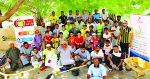 الشؤون الرياضية بجنوب الشرقية تنظم معسكر عمل بقرية واد بولاية صور